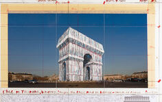 L'Arc de Triomphe, Wrapped _ Exhibition at Centre Pompidou - L'Arc de Tr...